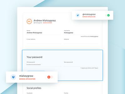 Form view mialszygrosz autentika ux ui input form user profile web dashboard interface app