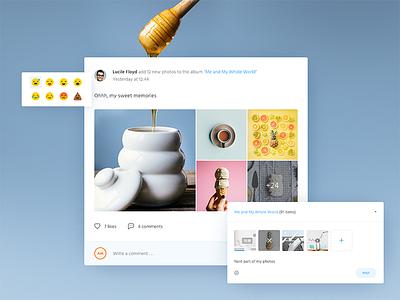Post view web ux user ui profile mialszygrosz interface form emoji dashboard autentika app