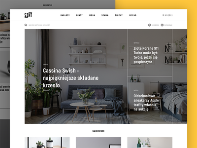 Magazine redesign web ux ui lifestyle mialszygrosz interface magazine autentika editorial