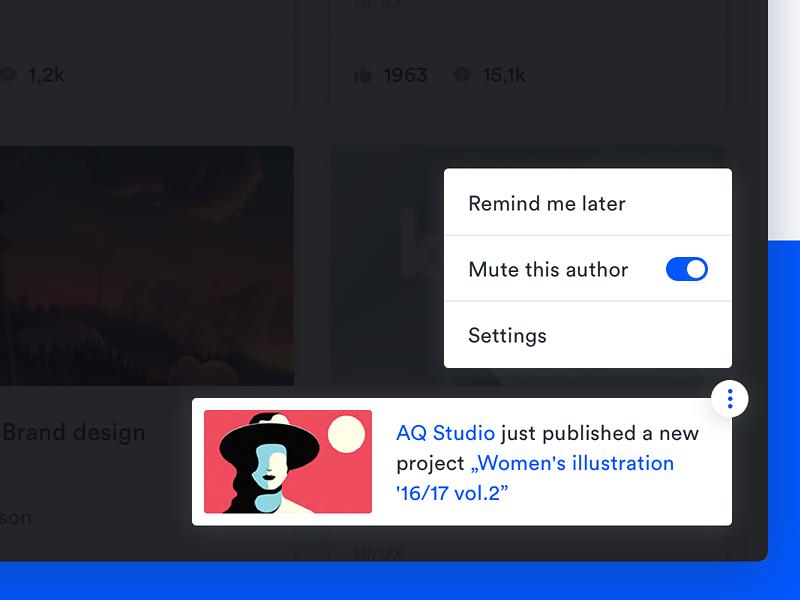 Behance fast notifications ux ui redesign mialszygrosz interface fluent dashboard behance autentika