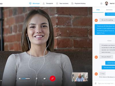 Psikea Conversation View ux ui video message mialszygrosz chat interface conversation dashboard