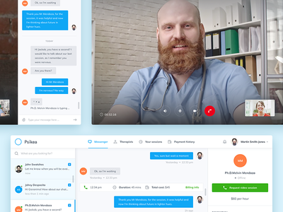 Psikea Conversation View ux ui video message mialszygrosz chat interface conversation dashboard