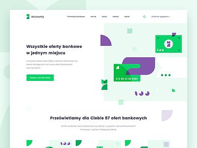 Accounty Homepage web ux card ui mialszygrosz landingpage interface shape illustration dashboard autentika webdesign
