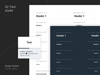 Design System for Editorial Platform styleguide design system app dashboard interface ui mialszygrosz