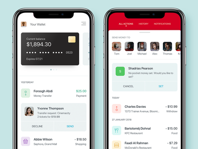 Banking App mobile app mobile banking banking app app dashboard interface ui