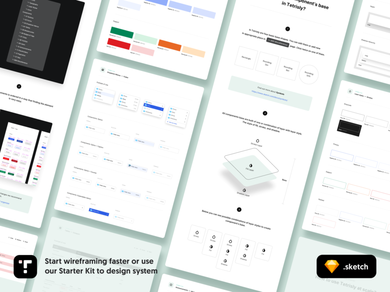 Tetrisly - Component Library for wireframing and Design System styleguide components component library atomic design web design product design freebies freebie wireframing wireframe form app web design dashboard ui interface
