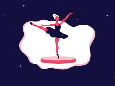 Ballet Dancer Flat Illustration