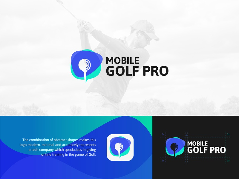 Mobile Golf Pro abstract graphic  design golf identity colors minimal logo