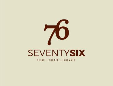 Seventy Six minimal identity design brand identity typography design logotype logo design logo idendity branding