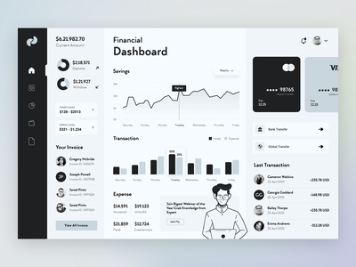 HOK Finance Dashboard best design website illustration mobile web design color uxdesign uxui user interface design userinterface uiux ux ui admin dashboard design dashboard ui dashboad banking fintech financial