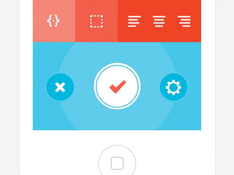 UI Controls ios app blue orange light minimal clean flat buttons controls text pic ui