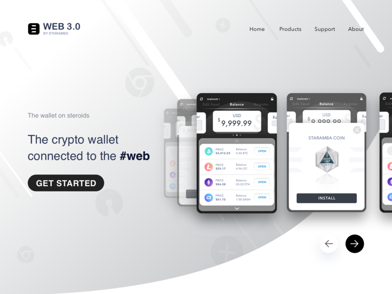 Web 3.0 by Ethnamed | Landing landing dribbble web3 wallet crypto