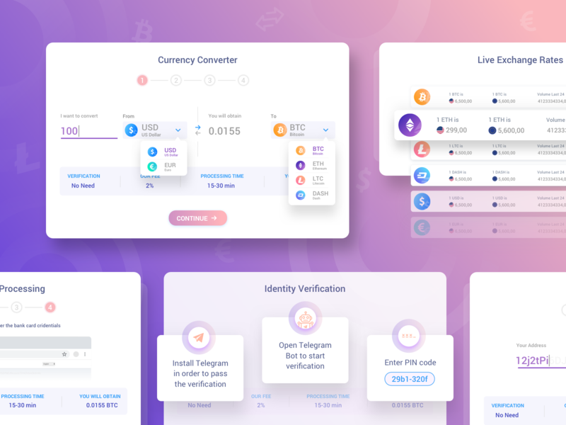 Crypto Exchange by Ethnamed currency converter dashboad converter design exchange cryptocurrency dribbble crypto