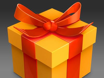 Gift Box update icon webos palm mac cinema 4d