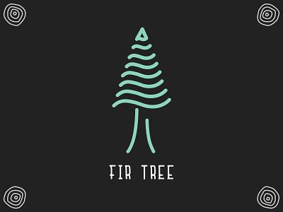 Fir Tree tree logo modern rustic rustic tree rings illustration icon line art tree icon tree illustration tree fir tree