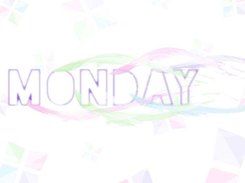 Monday Fade trendy modern monday text type movement playful soft colorful typography