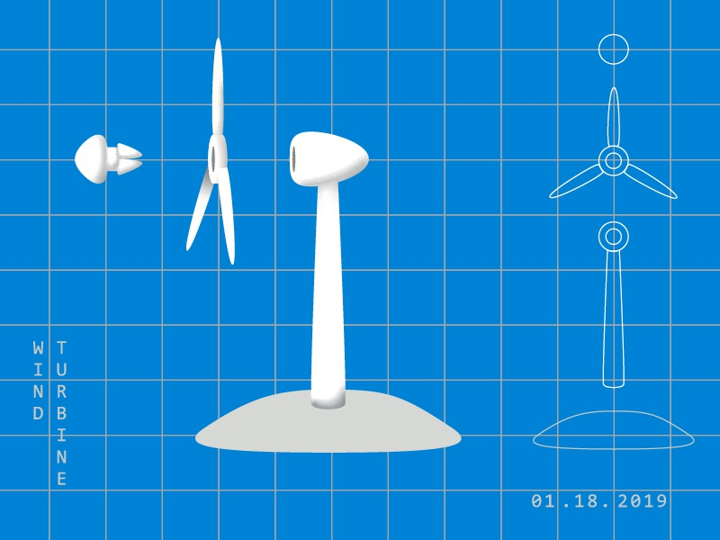Wind Turbine diagrams drawing wind power alternative energy wind energy modern blueprints energy wind turbine diagram vector illustration