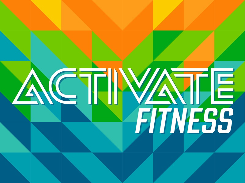 Activate Fitness vibrant fit typography fitness logo pattern color palette logo brand athletic fitness