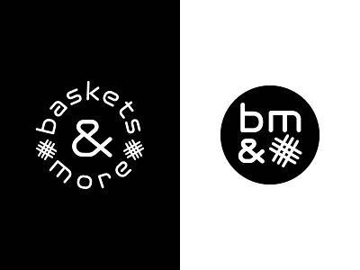 baskets & more logo badge craft round logo typography weave brand modern sleek branding basket logo