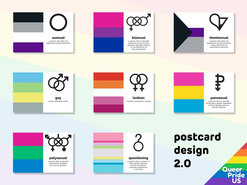 postcard design 2.0 update layout simple colorful attraction symbol pride flag postcards lgbtq pride lgbt queer
