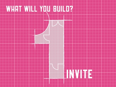 Dribble Invite Blueprint challenge build layout building hidden meaning number 1 grid floorplan architecture giveaway invite blueprint