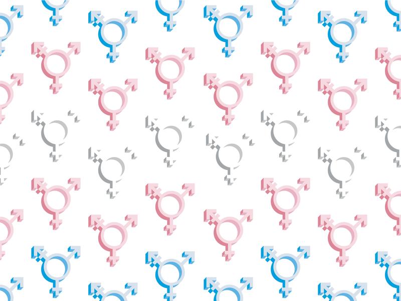 Transgender Symbol Pattern isometric pattern pride flag pride symbol transgender trans queer lgbtq icon