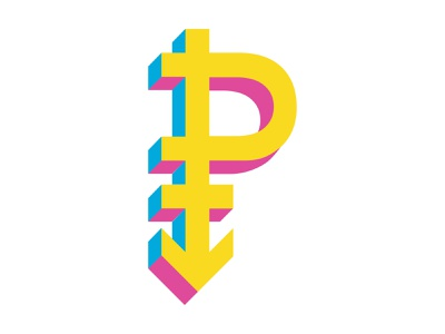 Pansexual Symbol icon sexuality symbol isometric pride flag pride queer lgbtq pan pansexual