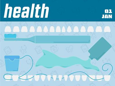 January 2020 health care dental care tooth mouthwash toothbrush floss january documentation calendar dentist teeth healthcare
