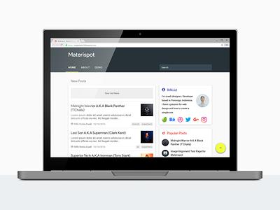 Materispot, Material Design Blogspot Template blogspot
