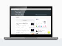 Materispot, Material Design Blogspot Template