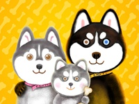 The Husky Family