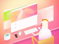 Web design illustration 2x