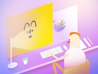 Designer and his working scene (2/3)