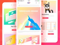 Website design for ios/android