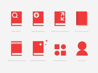 Vector icons for library website