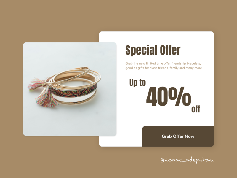 Special Offer - 036 Daily UI Challenge