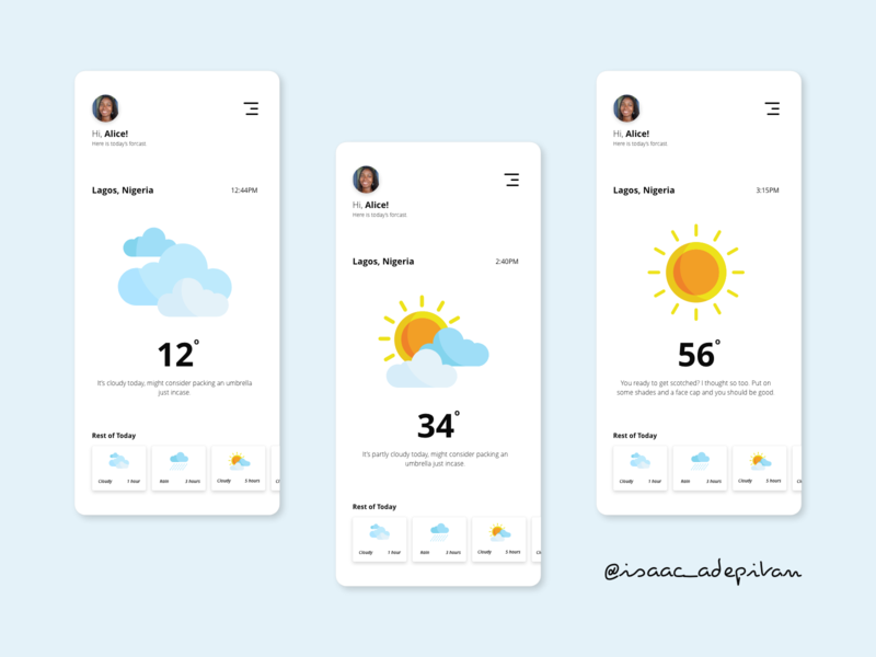 Weather - 037 Daily UI Challenge