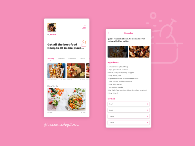 Recipe - 040 Daily UI Challenge