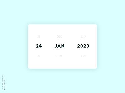 Date Picker - 080 Daily UI Challenge date picker datepicker dailyui 080 daily ui daily 100 challenge dailyuichallenge minimalist dailyui simple minimalism minimal ui design design