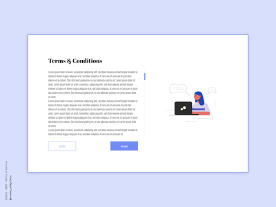Terms of Service - 089 Daily UI Challenge terms and conditions terms of service dailyui 089 dailyuichallenge minimalist dailyui simple minimalism minimal ui design design