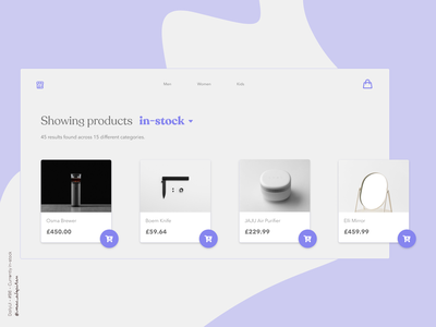 Currently in-stock - 096 Daily UI Challenge minimalist design website webdesign new uiux ui design webapp design webapplication dailyuichallenge dailyui 096 dailyui simple minimalism minimal