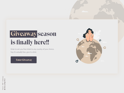 Giveaway - 097 Daily UI Challenge uidesign website webdesign new uiux ui desgin webapp design webapplication dailyuichallenge simple minimalism minimal ui design design
