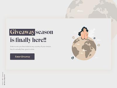 Giveaway - 097 Daily UI Challenge uidesign website webdesign new uiux ui desgin webapp design webapplication dailyuichallenge simple minimalism minimal ui design design