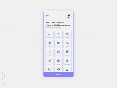 Categories - 099 Daily UI Challenge dailyui 099 mobile app design mobile app mobile new uiux dailyuichallenge dailyui simple minimalism minimal ui design design