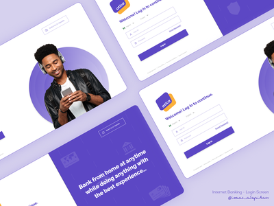 Internet Banking - Login Screen login form login page finance app finance banking internet banking login design login screen simple minimalism minimal ui design design