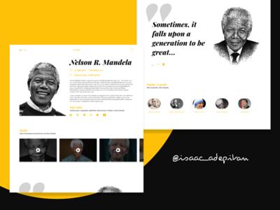 Legends - Minimal Profile Page (Mandela)