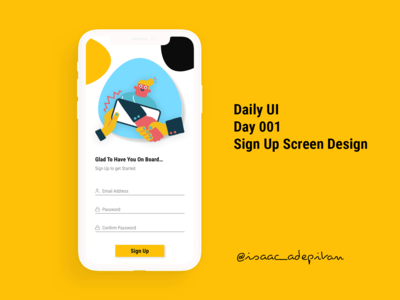 Sign Up Screen - Day 001 Daily UI Challenge