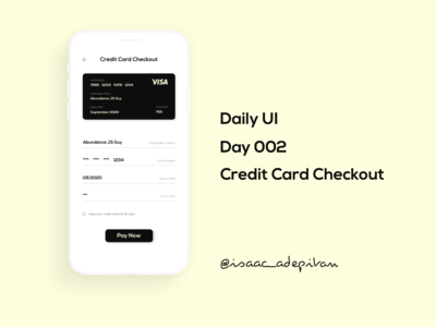 Credit Card Checkout - Day 002 Daily UI Challenge
