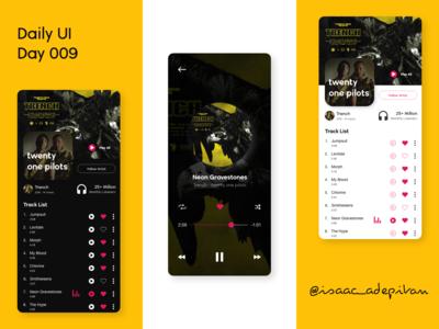 Music Player - 009 Daily UI Challenge