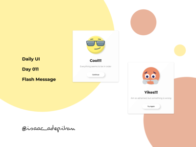 Flash Message - 011 Daily UI Challenge